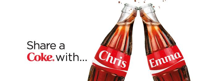 Coca Cola - dein Name