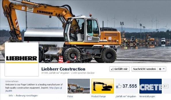 Facebook B2B Liebherr