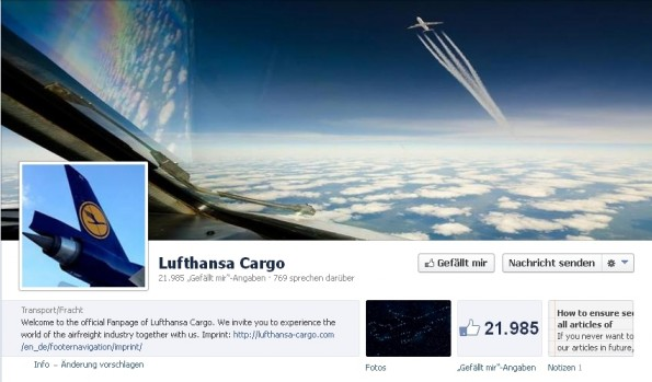 Facebook B2B Lufthansa