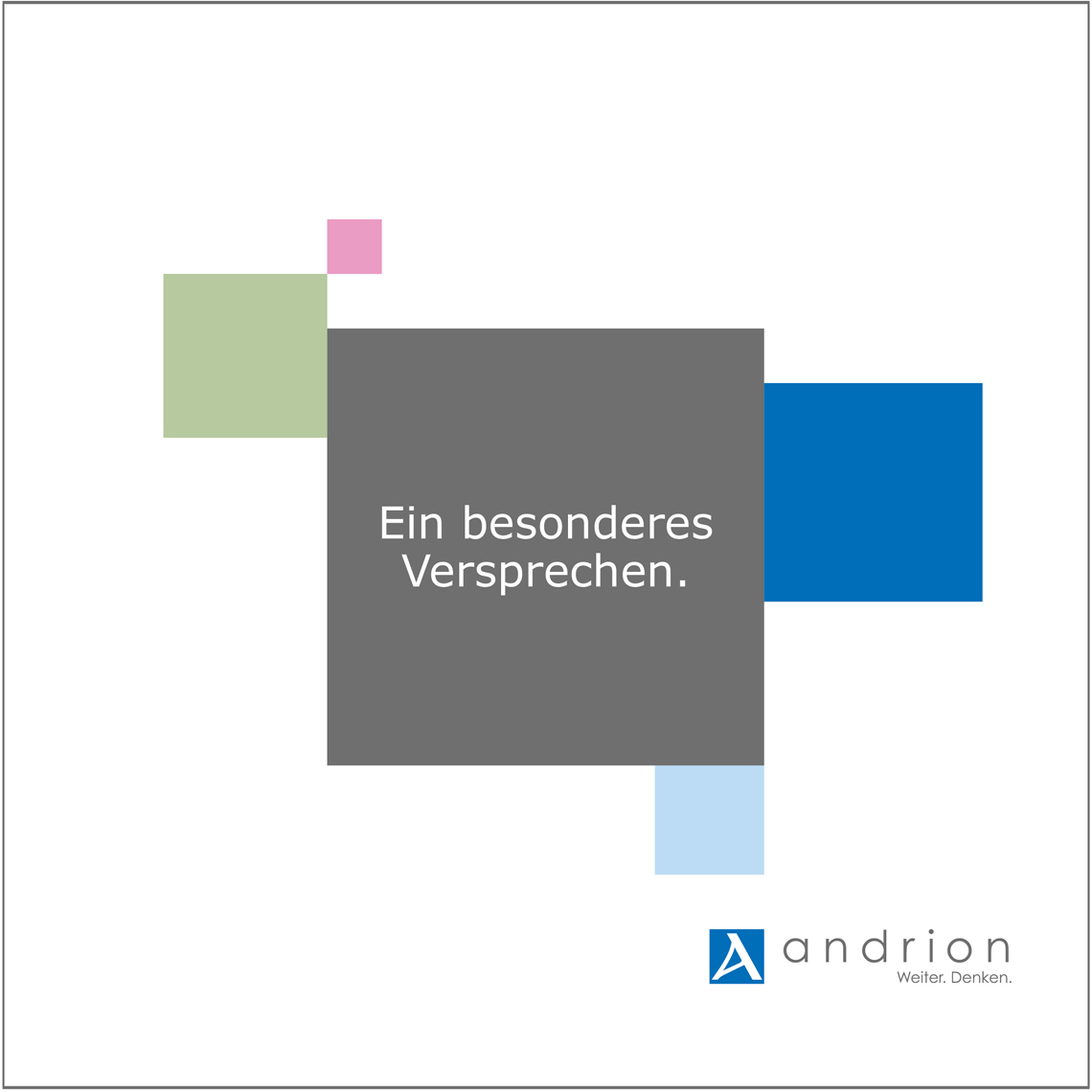Neue Firemenbroschüre andrion ag - Commento GmbH