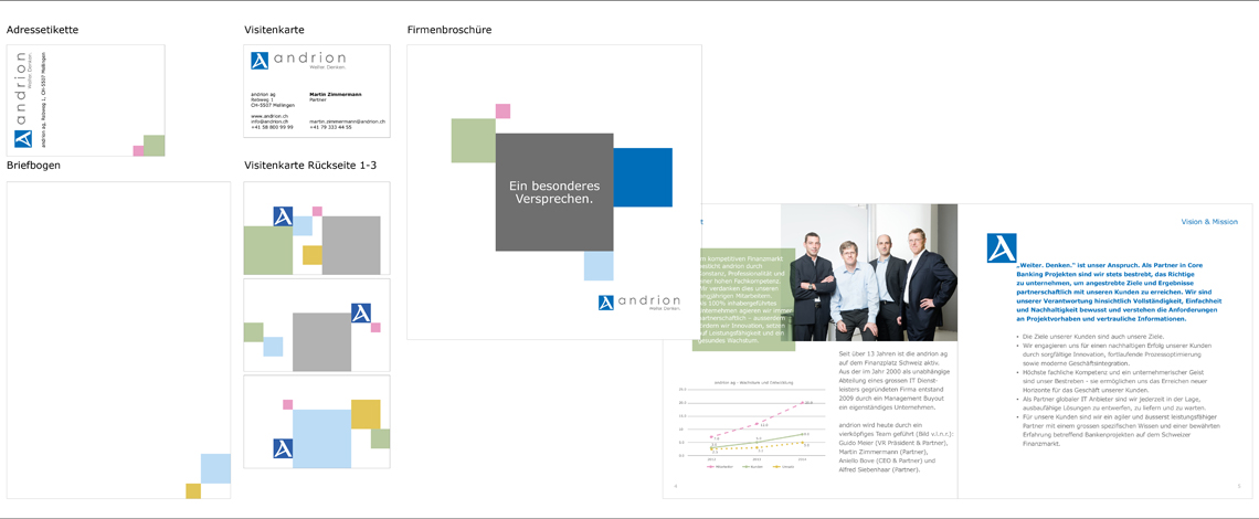 andrion ag - Corporate Design Printmedien - Commento GmbH