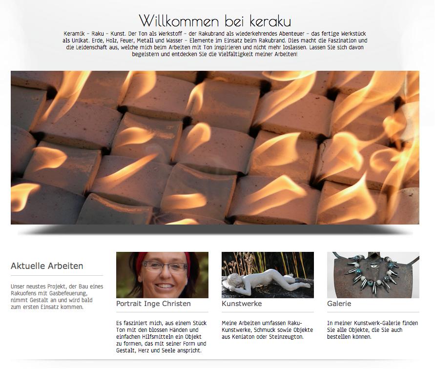 Webseite von keraku - Commento GmbH