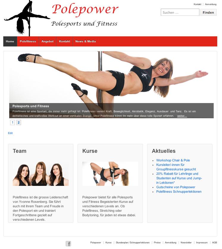 Polepower Webseite - Commento GmbH
