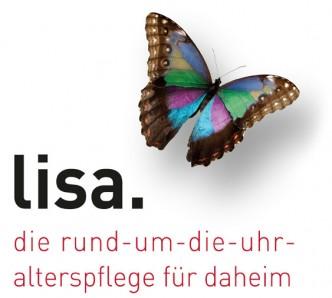 Corporate Design für lisa. die rund-um-die-uhr-alterspflege für daheim - Logo - Commento GmbH
